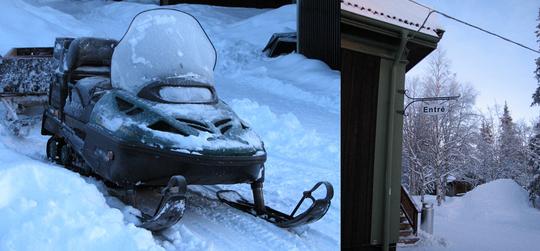 Ice Hotel Snowmobile