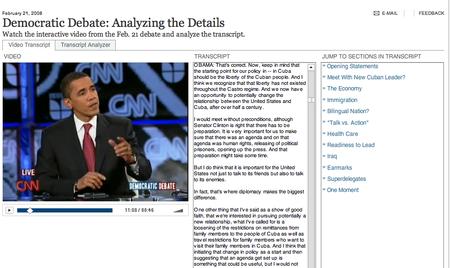 Barak Obama on CNN