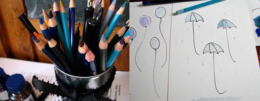 Drawing umbrellas